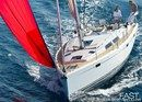Hanse 415 sailing Picture extracted from the commercial documentation © Hanse