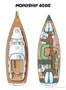 Nordship Yachts Nordship 40 DS layout Picture extracted from the commercial documentation © Nordship Yachts