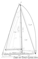 Italia Yachts Italia 12.98 plan de voilure Image issue de la documentation commerciale © Italia Yachts