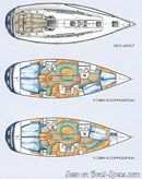 X-Yachts X-442 layout Picture extracted from the commercial documentation © X-Yachts
