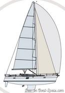 Elan Yachts <b>Impression 50</b> plan de voilureImage issue de la documentation commerciale © Elan Yachts