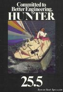 Marlow Hunter Hunter 25.5 sailing Picture extracted from the commercial documentation © Marlow Hunter