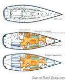 X-Yachts IMX 45 layout Picture extracted from the commercial documentation © X-Yachts