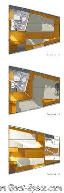 X-Yachts X-55 layout Picture extracted from the commercial documentation © X-Yachts