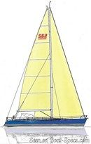X-Yachts X-562 plan de voilure Image issue de la documentation commerciale © X-Yachts