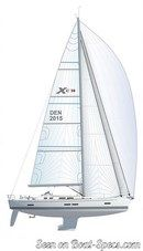 X-Yachts Xc 50 plan de voilure Image issue de la documentation commerciale © X-Yachts