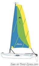 Hobie Cat Bravo sailplan Picture extracted from the commercial documentation © Hobie Cat
