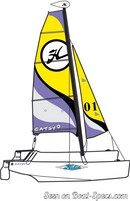 Hobie Cat Catsy sailplan Picture extracted from the commercial documentation © Hobie Cat