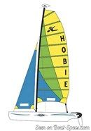 Hobie Cat Getaway plan de voilure Image issue de la documentation commerciale © Hobie Cat