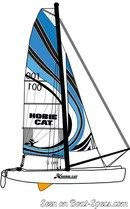 Hobie Cat Pearl plan de voilure Image issue de la documentation commerciale © Hobie Cat