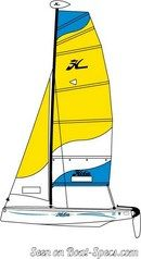 Hobie Cat T1 sailplan Picture extracted from the commercial documentation © Hobie Cat