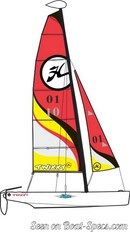 Hobie Cat Twixxy sailplan Picture extracted from the commercial documentation © Hobie Cat