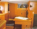 Hallberg-Rassy 38 interior and accommodations Picture extracted from the commercial documentation © Hallberg-Rassy