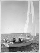 Hallberg-Rassy P-28 MkI sailing Picture extracted from the commercial documentation © Hallberg-Rassy