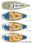 X-Yachts X-40 plan Image issue de la documentation commerciale © X-Yachts