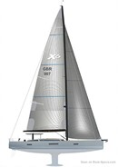 X-Yachts X6<sup>5</sup> sailplan Picture extracted from the commercial documentation © X-Yachts