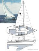 Catalina Yachts Catalina 30 MkII sailplan Picture extracted from the commercial documentation © Catalina Yachts
