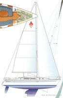 Catalina Yachts Catalina 380 plan de voilure Image issue de la documentation commerciale © Catalina Yachts