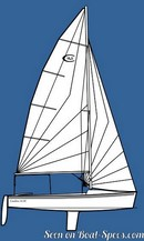 Catalina Yachts Catalina 16.5 plan de voilure Image issue de la documentation commerciale © Catalina Yachts