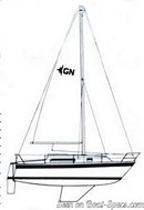 Westerly Griffon 26 sailplan Picture extracted from the commercial documentation © Westerly