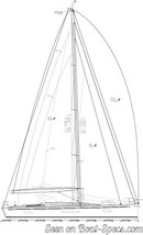 Italia Yachts Italia 15.98 sailplan Picture extracted from the commercial documentation © Italia Yachts
