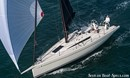 Italia Yachts Italia 11.98 en navigation Image issue de la documentation commerciale © Italia Yachts