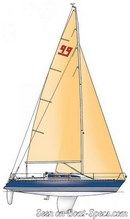 X-Yachts X-99 sailplan Picture extracted from the commercial documentation © X-Yachts