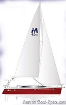 Marlow Hunter 42 SS sailplan Picture extracted from the commercial documentation © Marlow Hunter