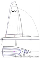 Ovington Boats VX Evo sailplan Picture extracted from the commercial documentation © Ovington Boats
