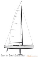 Ice Yachts Ice 62 plan de voilure Image issue de la documentation commerciale © Ice Yachts