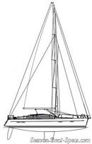Wauquiez Pilot Saloon 48 sailplan Picture extracted from the commercial documentation © Wauquiez