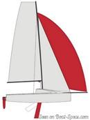 Bénéteau First 18 - 2018 sailplan Picture extracted from the commercial documentation © Bénéteau