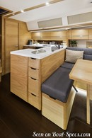 Sunbeam Yachts <b>Sunbeam 46.1</b> interior and accommodationsPicture extracted from the commercial documentation © Sunbeam Yachts