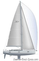 X-Yachts X4<sup>6</sup> sailplan Picture extracted from the commercial documentation © X-Yachts