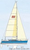 X-Yachts X-302 MkII sailplan Picture extracted from the commercial documentation © X-Yachts