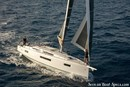 Jeanneau Sun Odyssey 410 sailing Picture extracted from the commercial documentation © Jeanneau