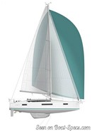 Jeanneau Sun Odyssey 410 sailplan Picture extracted from the commercial documentation © Jeanneau