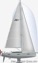 X-Yachts X4<sup>0</sup> plan de voilure Image issue de la documentation commerciale © X-Yachts