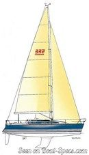 X-Yachts X-332 sailplan Picture extracted from the commercial documentation © X-Yachts