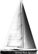 Discovery Yachts Group Southerly 600 sailplan Picture extracted from the commercial documentation © Discovery Yachts Group