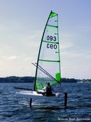 Fulcrum Speedworks Foiling UFO sailing Picture extracted from the commercial documentation © Fulcrum Speedworks
