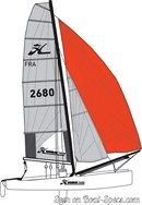 Hobie Cat Tiger sailplan Picture extracted from the commercial documentation © Hobie Cat