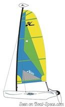 Hobie Cat Wave plan de voilure Image issue de la documentation commerciale © Hobie Cat