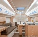 Hanse 315 interior and accommodations Picture extracted from the commercial documentation © Hanse