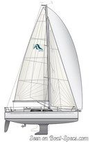 Hanse 315 sailplan Picture extracted from the commercial documentation © Hanse