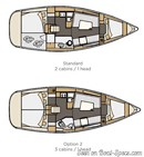 Elan Yachts Impression 35 layout Picture extracted from the commercial documentation © Elan Yachts