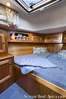 Hallberg-Rassy 342 interior and accommodations Picture extracted from the commercial documentation © Hallberg-Rassy