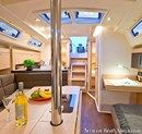 Hanse 345 interior and accommodations Picture extracted from the commercial documentation © Hanse