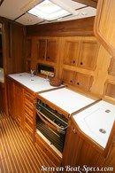 Nauticat Yachts Nauticat 351 intérieur et aménagements Image issue de la documentation commerciale © Nauticat Yachts