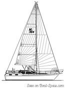 Nauticat Yachts Nauticat 351 sailplan Picture extracted from the commercial documentation © Nauticat Yachts